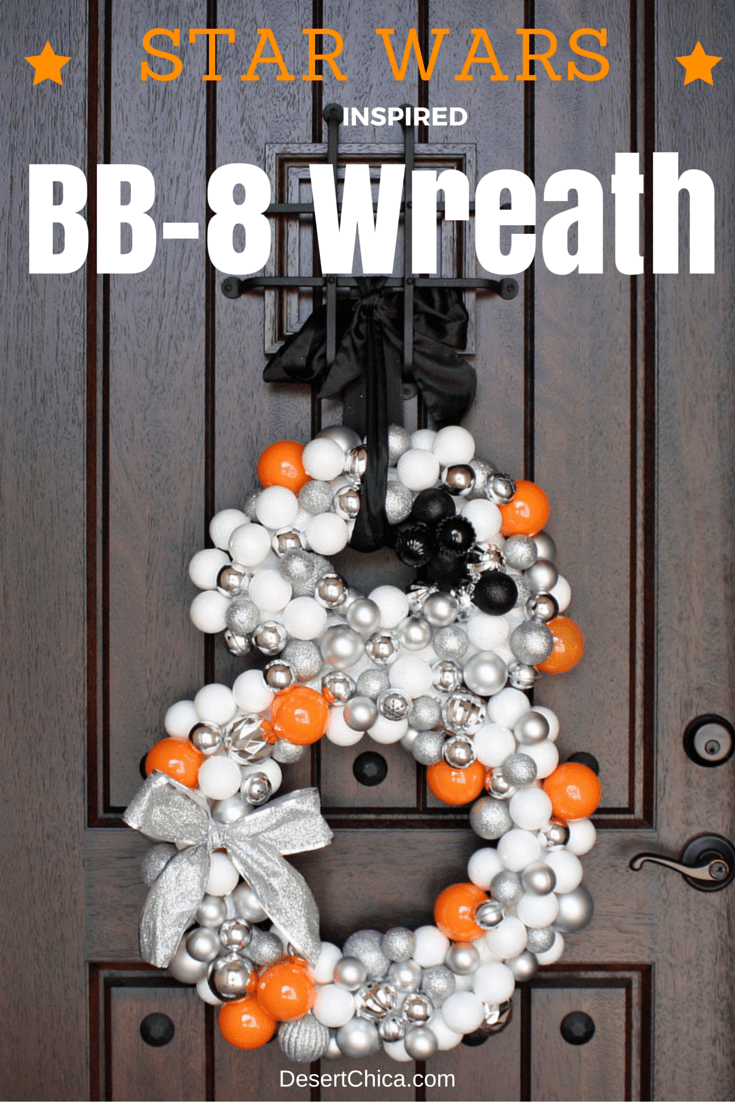 Star Wars inspired BB-8 Christmas Wreath
