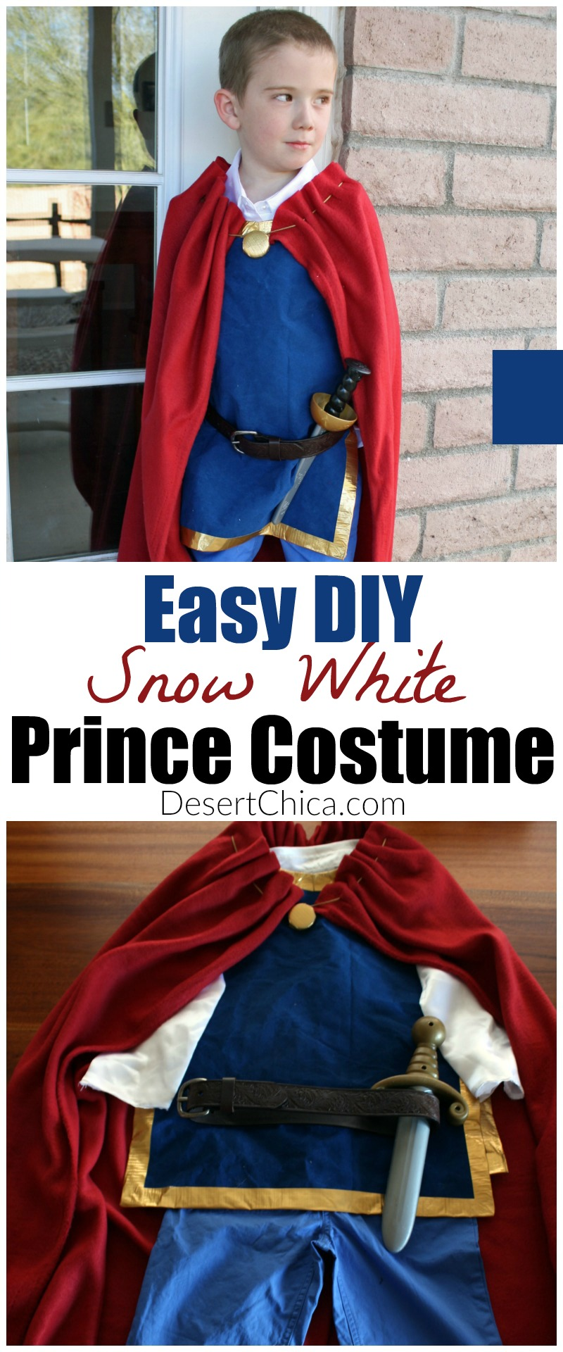Looking for a prince costume alternative to Prince Charming? How about an easy DIY Snow White Prince costume!