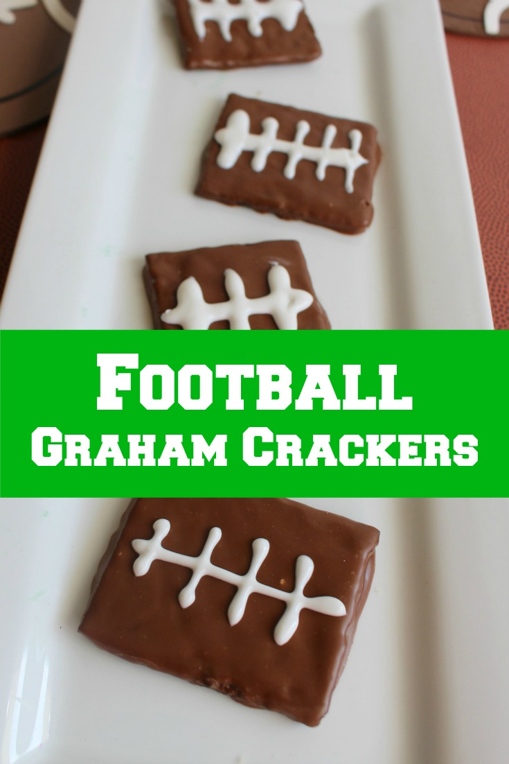 Easy to make Chocolate Football Graham Crackers Dessert