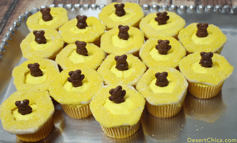 Baloo's Honeycomb Cupcakes for a Jungle Book themed party