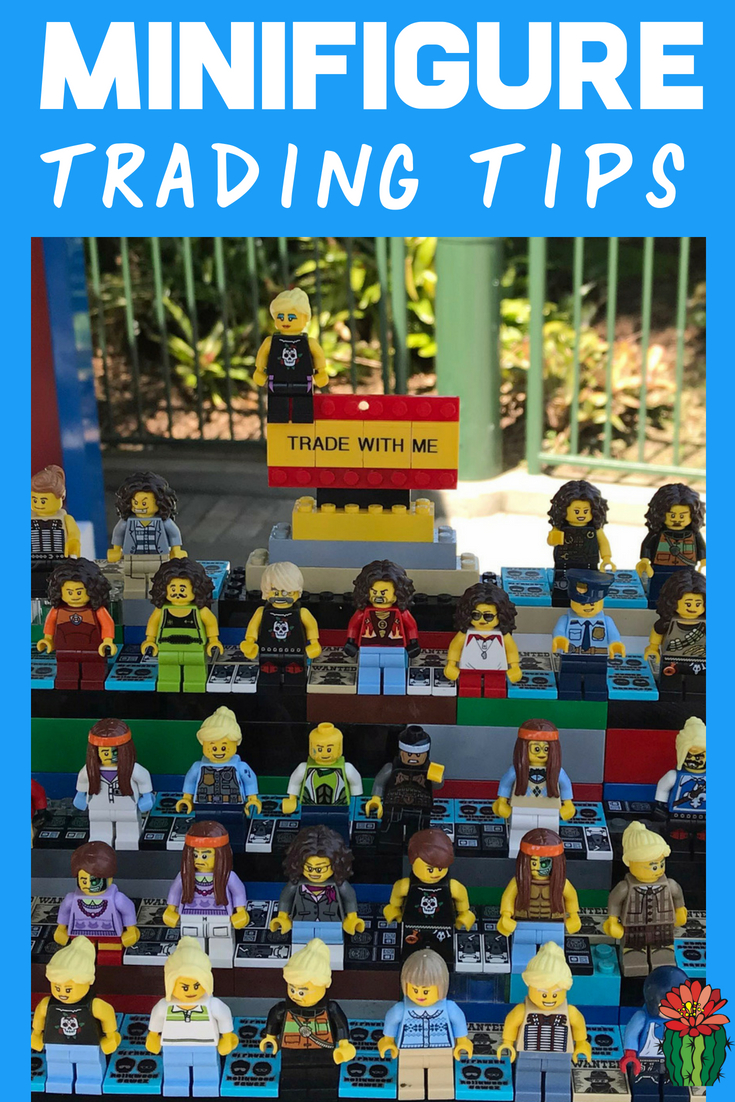 LEGO Minifigure trading at LEGOLAND California and Florida is the best-kept secret hack for your next family trip to LEGOLAND. Learn tips for this budget-friendly idea that is a great alternative to buying souvenirs in a shop. Just include a few extra minifigs on your packing list and you're set for a fun kids activity. Minifigure trading is similar to pin trading at the Magic Kingdom or Disneyland and can also be done at LEGO Discovery Centers throughout the country.