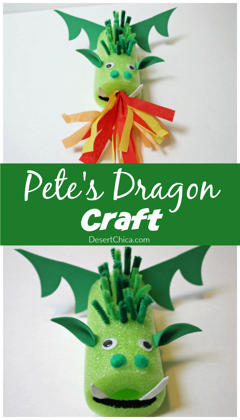 How to make a Pete's Dragon Craft using a pool noodle and craft supplies