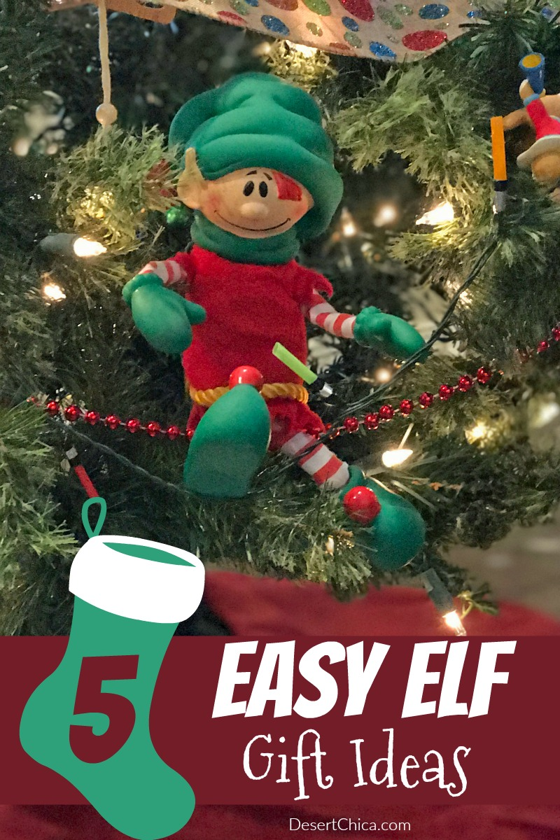 We keep the elf antics simple but he does bring gifts every once in awhile. Check out these elf gift ideas to amp up the fun.