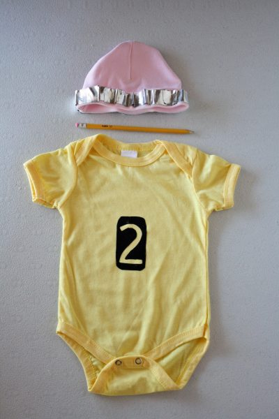 DIY Pencil Onesie Baby Costume for the 99 Cents Only Stores