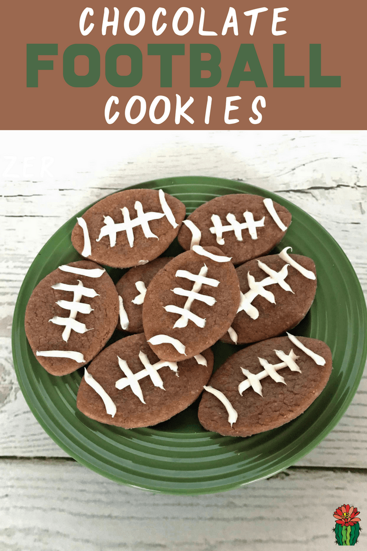 How to make easy Chocolate Football Cookies for the super bowl game