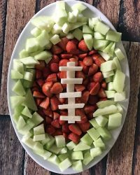 Easy Football Fruit Tray