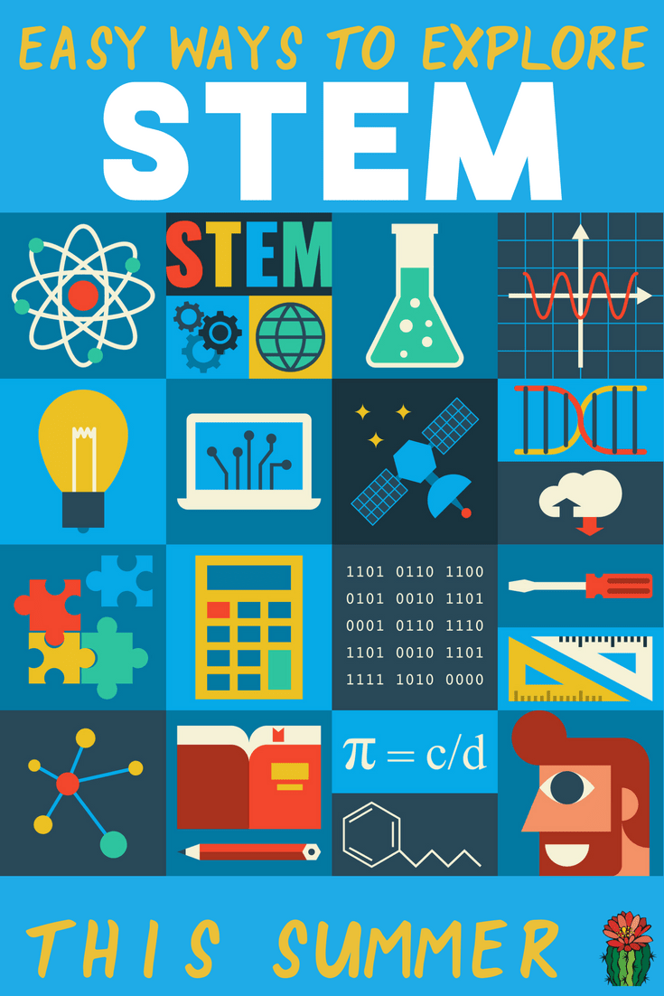 Easy ways to explore STEM this summer including art, science and engineering projects and activities for elementary and middle school students. Many of the resources can be modified for the classroom or preschool kids.