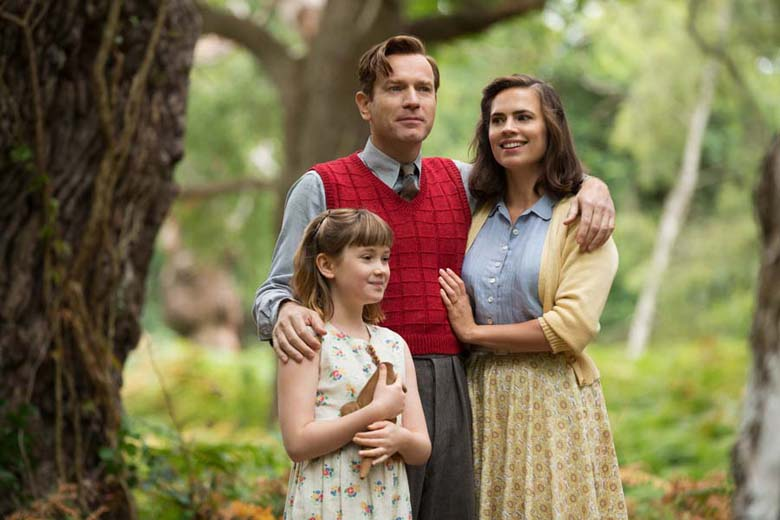 Bronte Carmichael plays Madeline Robin, Ewan McGregor plays her father Christopher Robin and Hayley Atwell plays her mother Evelyn Robin in Disney's heartwarming live action adventure CHRISTOPHER ROBIN.