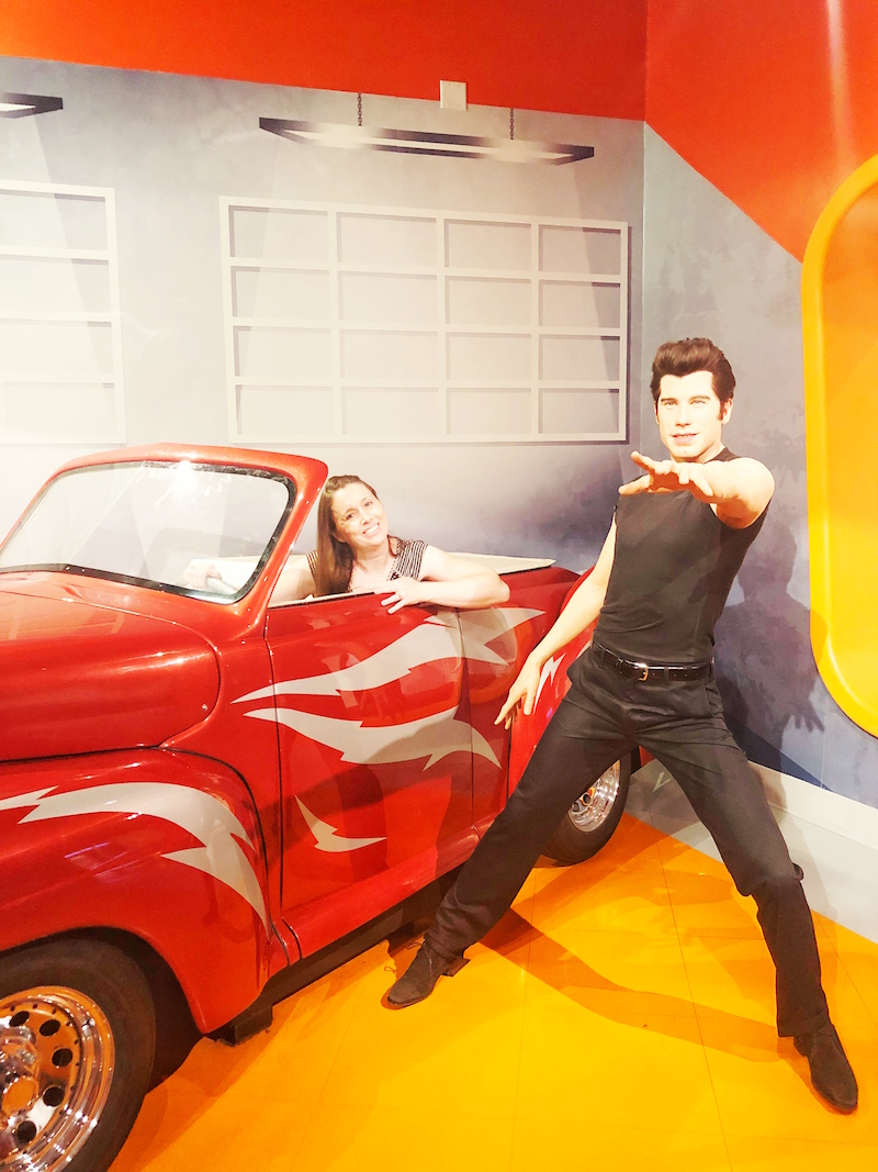 Grease Lightning Exhibit at Madame Tussauds Hollywood