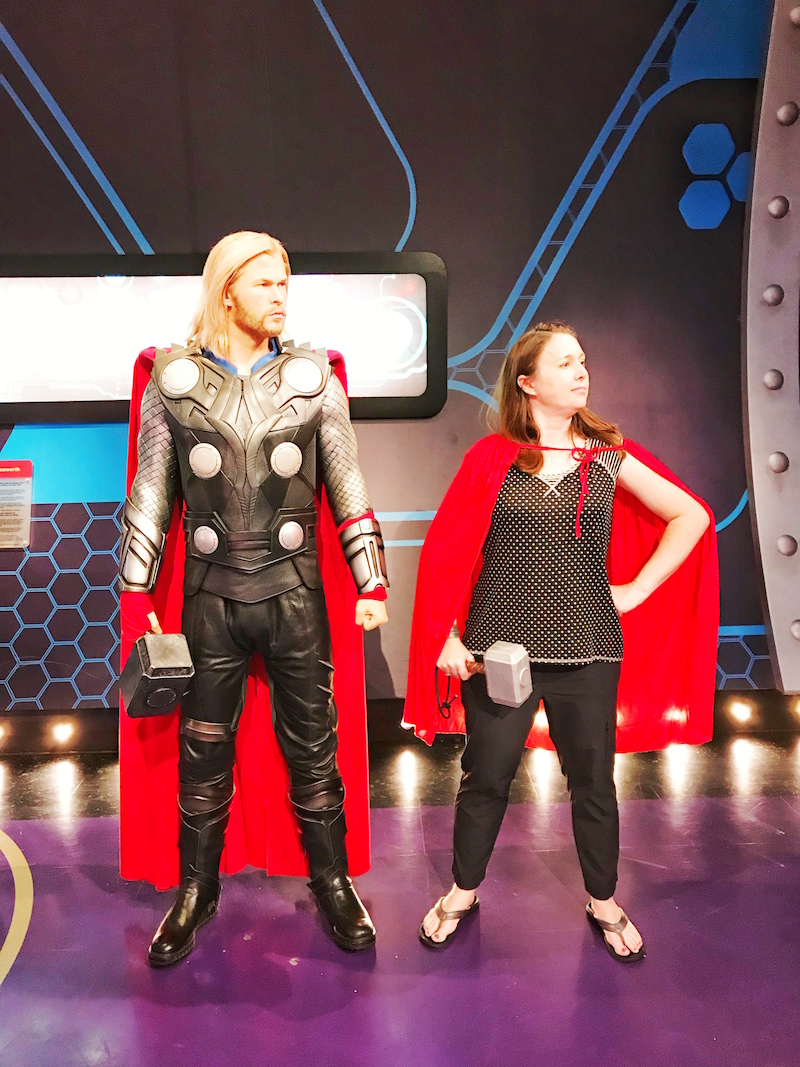 Thor at Marvel Super Heroes Exhibit at Madame Tussauds Hollywood