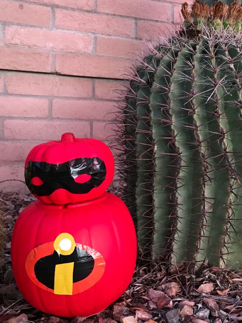 No Carve Disney Pumpkin for Incredibles 2