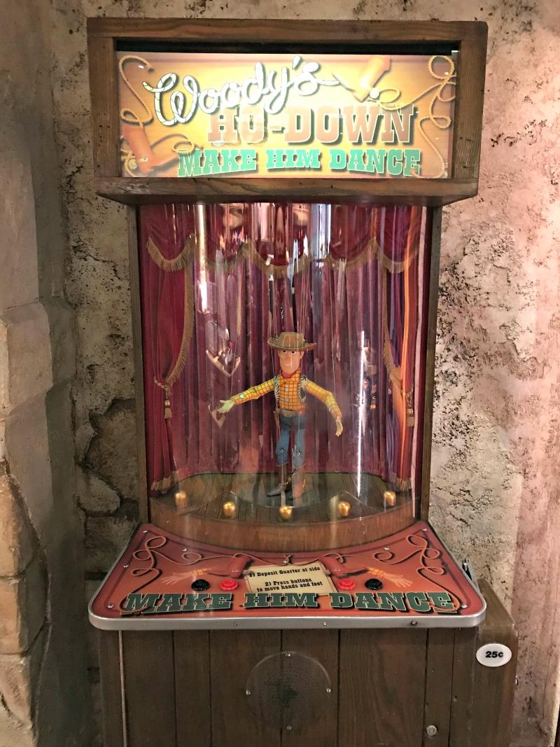 Woody Dance Machine for Scavenger Hunt at Disneyland