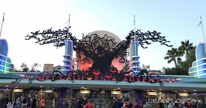 Oofie Boogie sign in front of Disney California Adventure