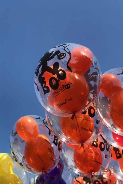Halloween themed balloons at Disneyland