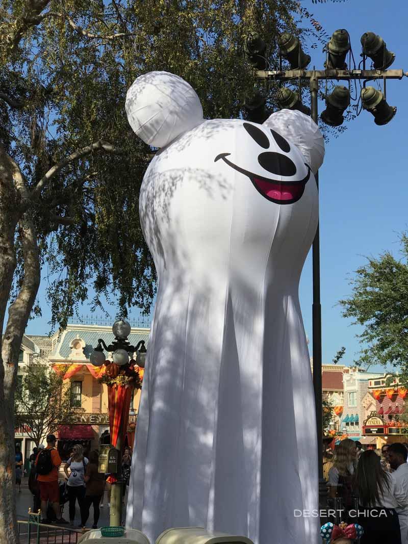 Mickey Ghost head decoration at Disneyland