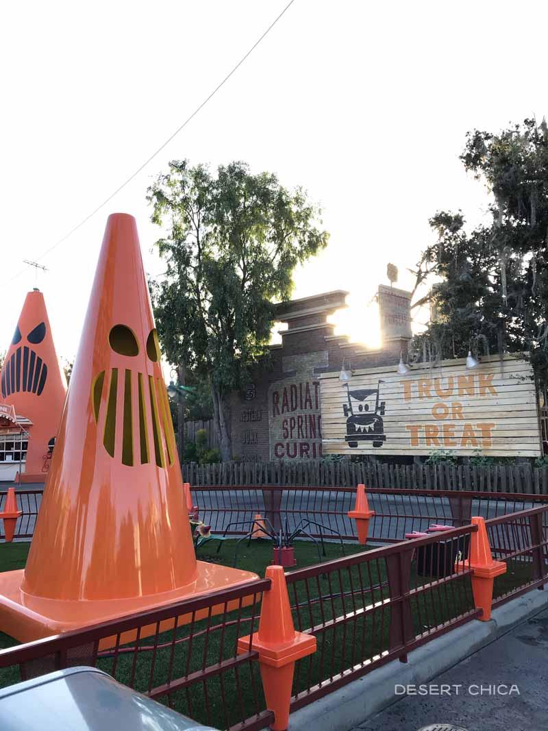 Halloween decorations at Disney California Adventure during Haul-O-Ween