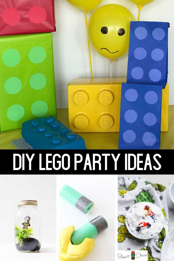 LEGO birthday party decorations