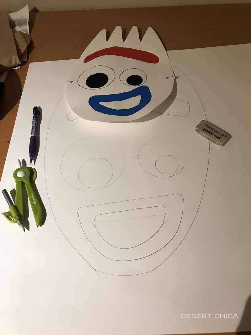 Creating a large Forky Mask