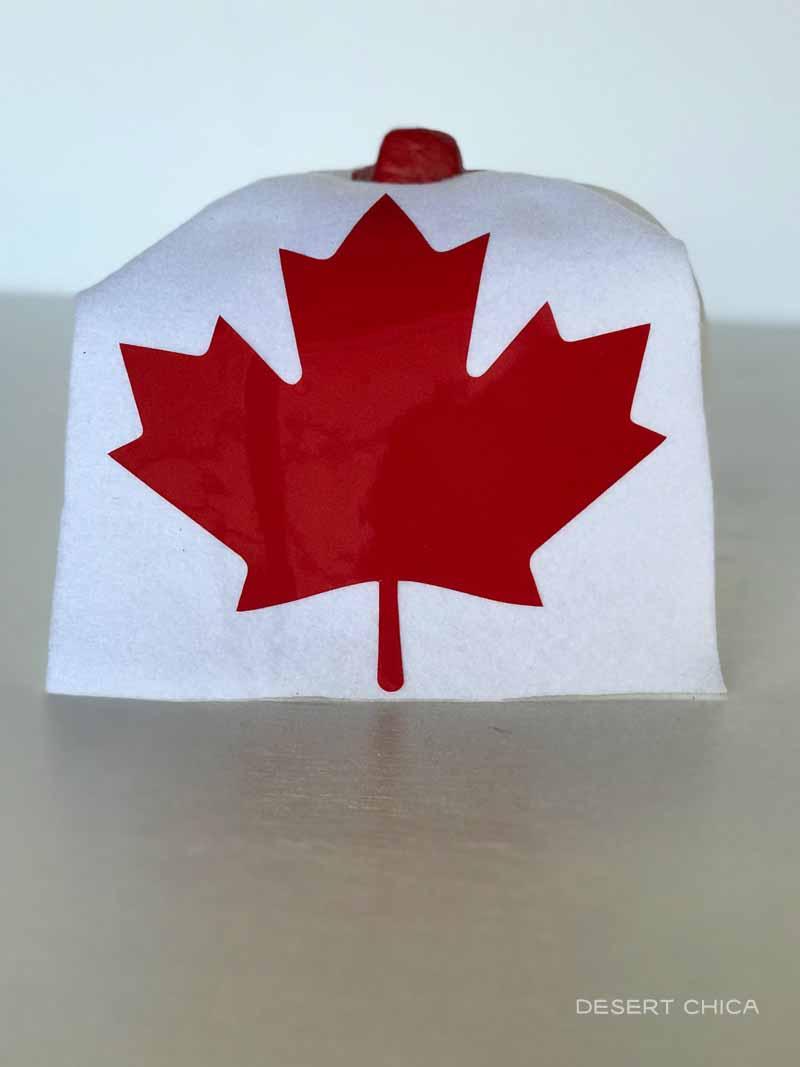 Maple leaf cape