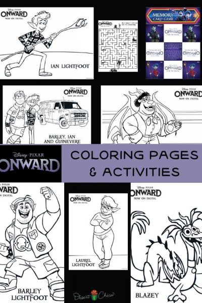 Onward Coloring Pages to print at home