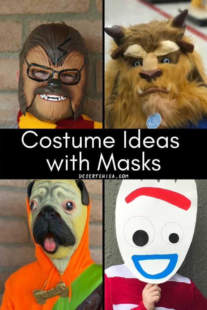 Halloween costume masks