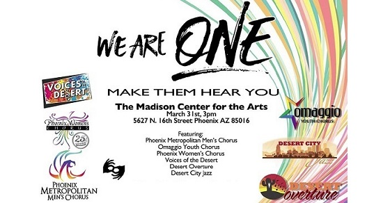 Tickets on sale now for We Are One: Make Them Hear You – March 31