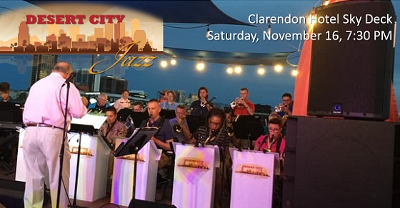 Tickets on sale now for Desert City Jazz at the Clarendon – November 16