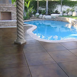 Patio with Saw Cuts
