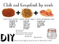 Chili and Grapefruit lip scrub