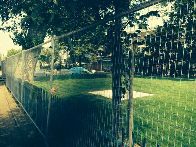 Nunhead Green, closed for gentrification