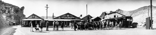 Ryan, California. Passengers arriving on Motor Coach from Death Valley Junction - 1929. Courtesy National Park Service, Death Valley National Park