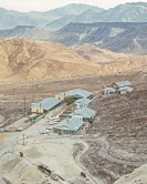 Ryan 1964 - A view of the borate mining camp at Ryan, in Death valley in 1964. Courtesy R. Currier.