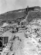 Grand View Mine, laying track from Ryan 1915 - Courtesy National Park Service, Death Valley National Park