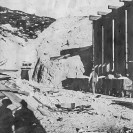 Lila C Mine - John Ryan at #2 shaft and bunker 1910, Courtesy National Park Service, Death Valley National Park