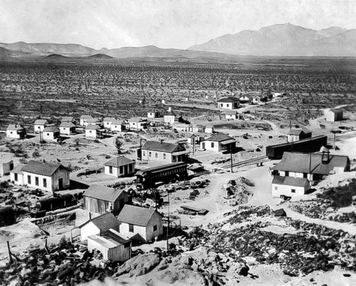 The camp at Lila C in 1910 - Courtesy National Park Service, Death Valley National Park