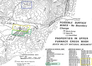 Furnace Creek Claims labeled