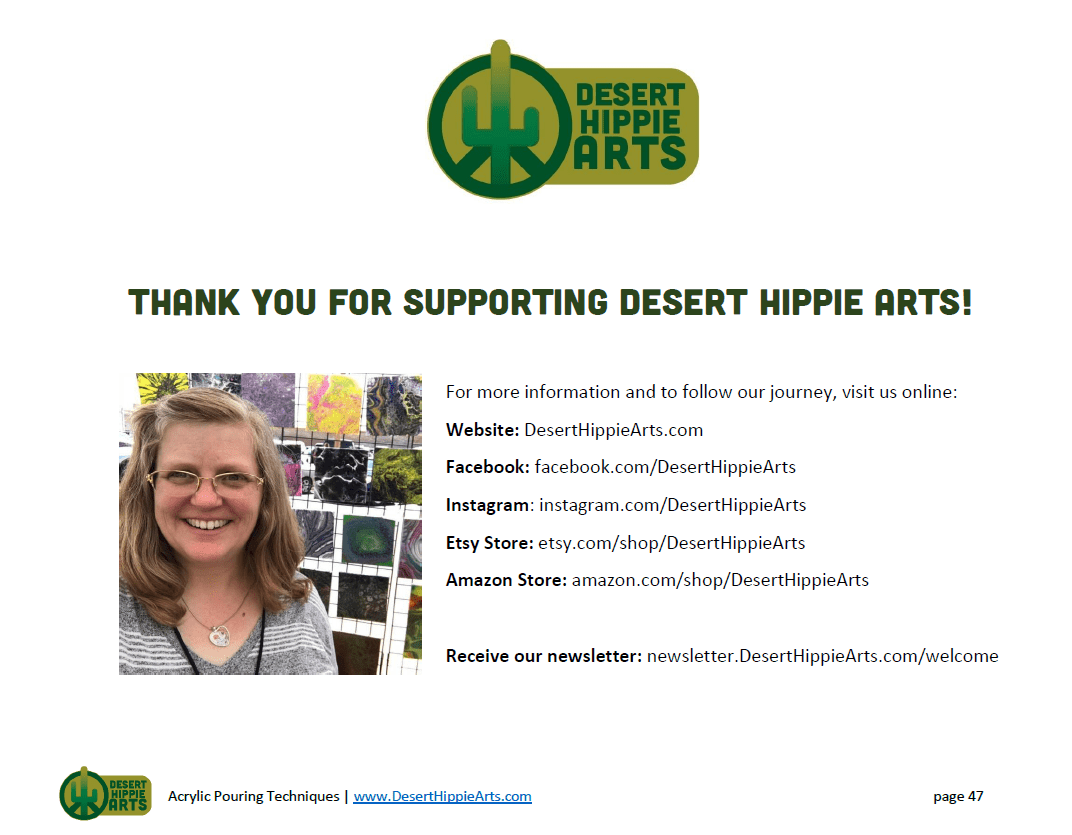 Acrylic Paint Pouring Level 1 Desert Hippie Arts 47 1