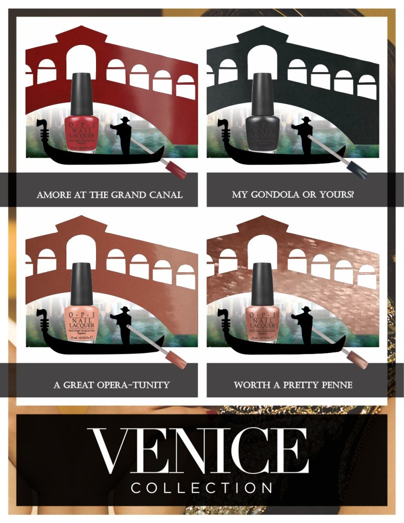 OPI Venice Collection – Autumn / Winter 2015