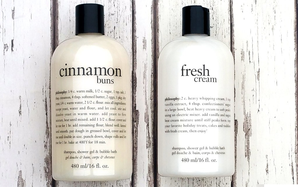Philosophy Fresh Cream & Cinnamon Buns Shampoo, Shower Gel & Bubble Bath Review