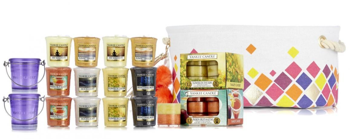 Yankee Candle 39 Piece Warm Summer Nights TSV Hamper on QVCUK 4th July 2016