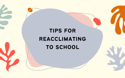 Tips for Re-acclimating to School