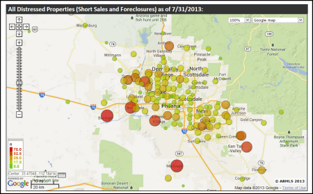 Arizona Short Sales - Foreclosures - July 2013