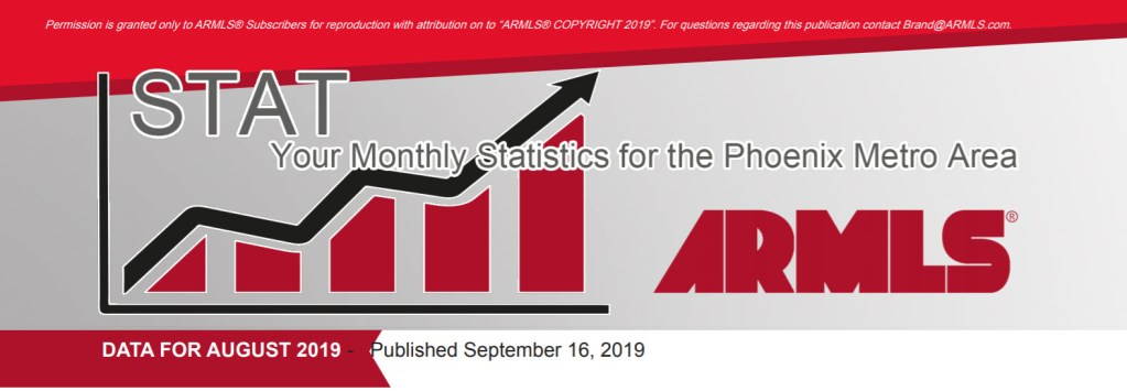 Real Estate Market Statistics September 2019 Phoenix - Hunter Clark and Nathan Mitchell, Realtors
