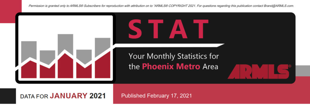 Real Estate Statistics February 2021 Phoenix - Hunter Clark and Nathan Mitchell