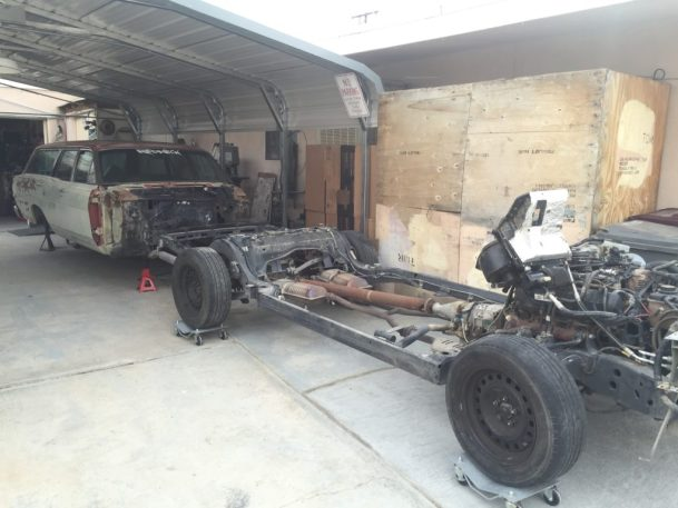 Ep 3 Crown Vic Frame Swap with 68 Mercury Montego Station