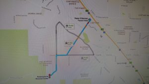 Maps and Directions   desertrenewal org Driving Direction  Take I 10 to Exit 246 Cortaro Road  Take Cortaro Road  West 2 04 miles to Ina Road  turn right and proceed until Wade Road