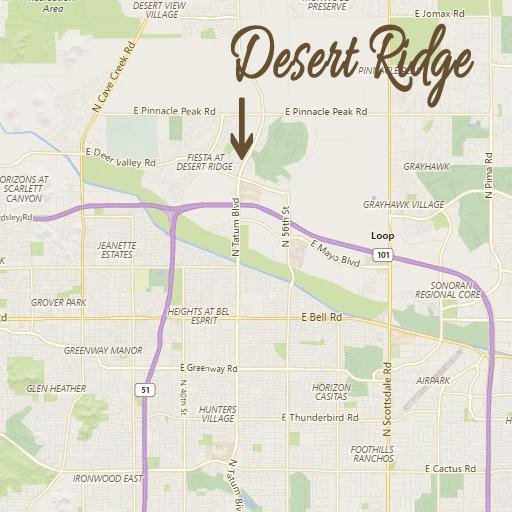 Desert Ridge Map Frequently Asked Questions (FAQ) – Desert Ridge homes for sale in