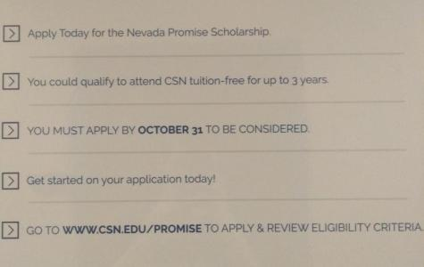 The Nevada Promise Scholarship: An Opportunity that Should Not Be Missed!