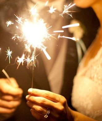 Silver wedding sparkler