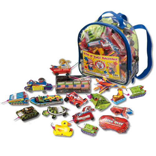 4th of July Back Pack Example